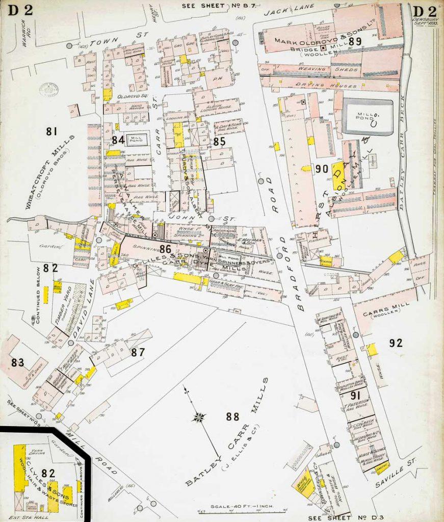 D2 Insurance Plan of Dewsbury 1893.